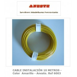 INSTALLATION CABLE 10 METERS - Yellow color - Aneste. Ref 6003