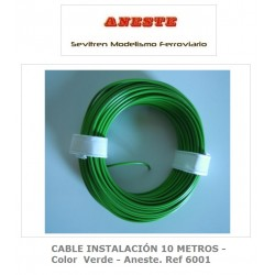 INSTALLATION CABLE 10 METERS - Green color - Aneste. Ref 6001