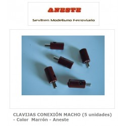 MALE CONNECTION PINS (5 units) - Brown Color - Aneste
