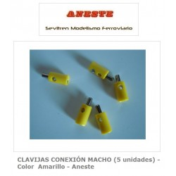 MALE CONNECTION PINS (5 units) - Yellow color - Aneste