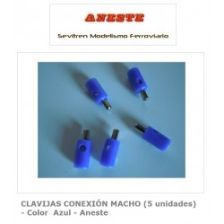 MALE CONNECTION PINS (5 units) - Blue color - Aneste