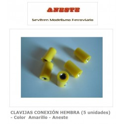 FEMALE CONNECTION PINS (5 units) - Yellow color - Aneste