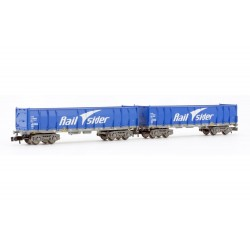 Railsider, 2-unit set open wagons, type Ealos, blue, empty, period VI - HN6413