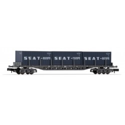 """RENFE platform wagon with 3 """"SEAT"""" containers, period IV - Arnold HN6404"""
