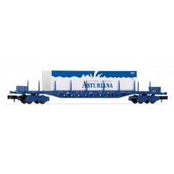 """RENFE platform wagon with 3 containers """"Central Lechera Asturiana"""", period V - Arnold HN6405"""