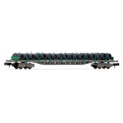 RENFE platform wagon with wire coils, green. - Arnold HN6407