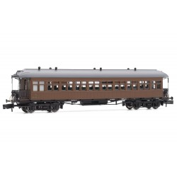 Coche pasajeros Costa, 3rd clase, RENFE, techo americano - Arnold HN4236