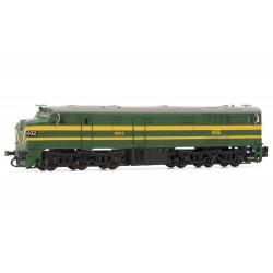 Locomotora diesel Alco Renfe 316, verde, época III - Arnold HN2409