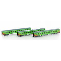 Flixtrain Set nº2, 3 coches pasajeros - Hobbytrain LC95002 (Lemke)