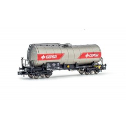 """RENFE, 4-axle tank wagon """"CEPSA"""", silver/red livery, period V-VI - Arnold HN6494"""
