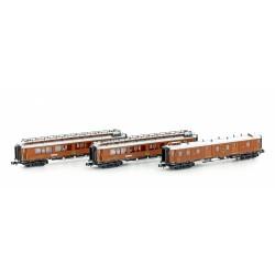 Set 3 vagones CIWL Simplon-Express Ep.I (Viena-Niza-Cannes) - Hobbytrain H22104