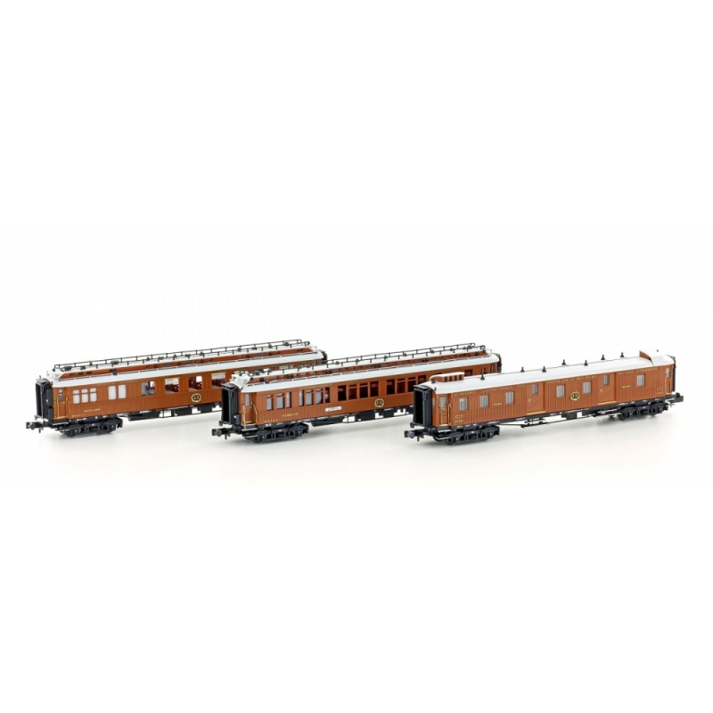 Set nº2 - 3 wagons CIWL Simplon-Express Ep.I (Vienna-Nice-Cannes) - Hobbytrain H22105