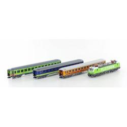 Flixtrain Set nº3, locomotora + 3 coches pasajeros - Hobbytrain LC95003 (Lemke)