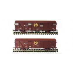 Set 2 wagons P. E. Jfvce 600115 / Jfvce 601250, epoch IV, Mabar - 81865