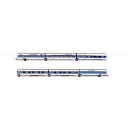 "DB AG, 6-unit set, ""InterCityNight"" Talgo, blue/white livery, period V - Arnold HN4310"