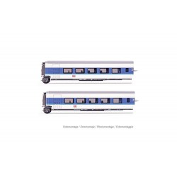 "DB AG, set of 2 additional sleeperette coaches Talgo ""InterCityNight"", blue/white livery, period V - HN4312"