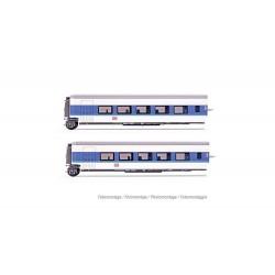 "DB AG, set of 2 additional sleeperette coaches Talgo ""InterCityNight"", blue/white livery, period V - HN4312"