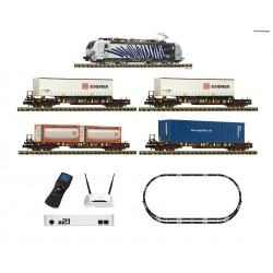 Set digital z21 con locomotora eléctrica serie 193 y tren de mercancías. Fleischmann 931891